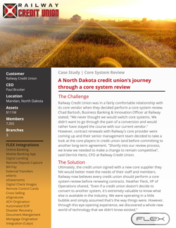 Railway Credit Union Core System Review Case Study